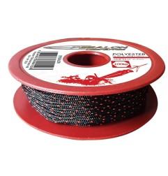 Polyester 100K black/red - 1,6mm - 50m (100 DaN)