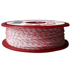 Polyester 100K white/red - 1,6mm - 50m (100 DaN)