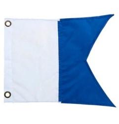 Blue flag for boats (Alpha)