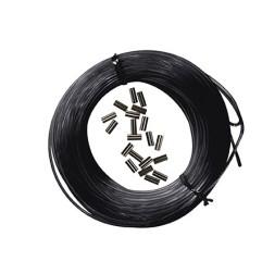 Kit 25m mono-fil nylon black + 10pcs Sleeves black